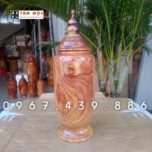 Bình gỗ trang trí gỗ cẩm lai