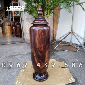 Bình gỗ trang trí gỗ chiu liu bông