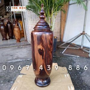 Bình gỗ chiu liu bông