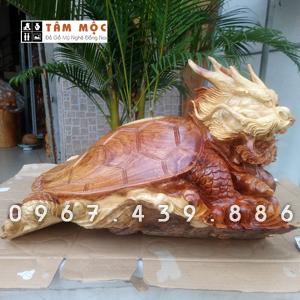 Tượng Long Quy bằng gỗ hương Việt