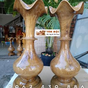 Cặp chum củ tỏi bằng gỗ chòi mòi