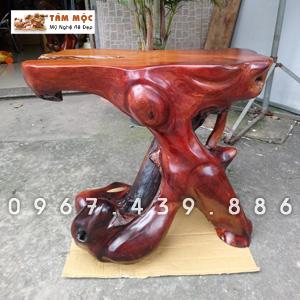 Đôn gốc cây bằng gỗ hương Việt