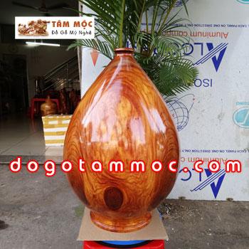 Bình gỗ cà te - gõ đỏ Việt
