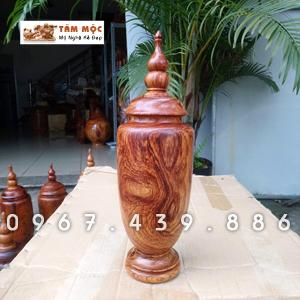 Bình trang trí gỗ cẩm lai