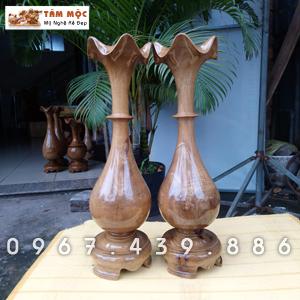 Cặp củ tỏi bằng gỗ chòi mòi