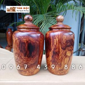 Cặp chum gỗ cẩm Việt vân đẹp