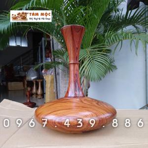 Lọ hoa phong thủy gỗ cẩm (gỗ quý nhóm 1A)