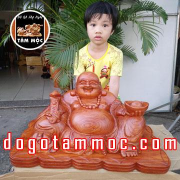 Tượng Phật Di Lặc đẹp gỗ hương