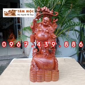 Phật Di Lặc ngũ phúc gỗ hương