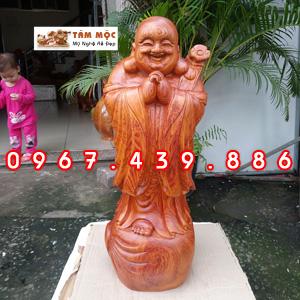 Tượng gỗ Phật Di Lặc chúc phúc gỗ hương