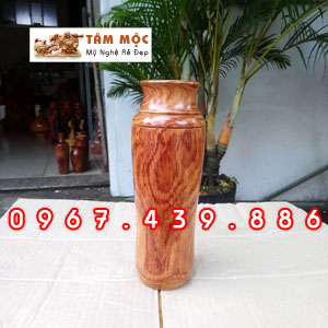 Bình gỗ trang trí gỗ cẩm