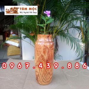 Chai gỗ cắm hoa gỗ cẩm lai