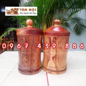Hộp đựng trà gỗ cẩm