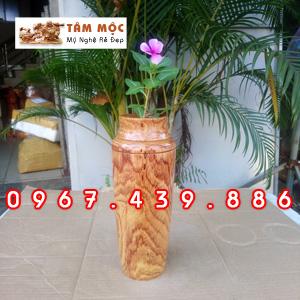 Lọ gỗ cắm hoa gỗ cẩm lai