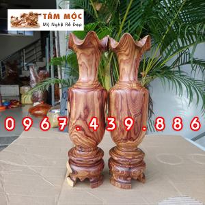 Cặp lục bình gỗ cẩm lai
