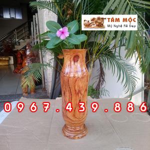 Ống gỗ cắm hoa gỗ cẩm