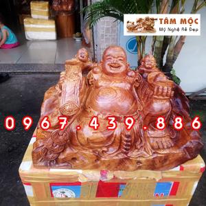 Tượng Phật Di Lặc gỗ hương Việt siêu vân
