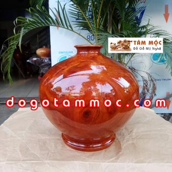 Bình hút tài lộc gỗ gõ đỏ Việt