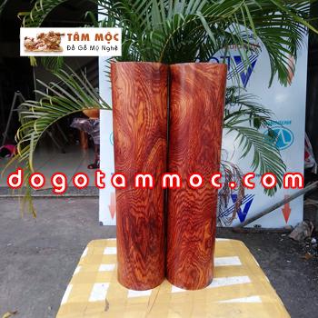 Cặp trụ gỗ cẩm chỉ đẹp lạ