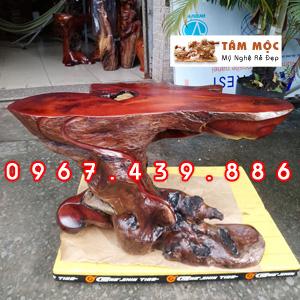 Ghế đôn gốc cây kê tượng gỗ hương Việt