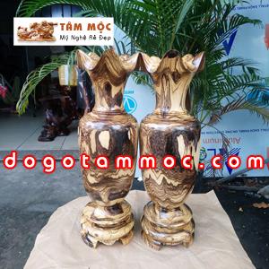 Lục bình gỗ cẩm sừng Vân Da Báo độc lạ