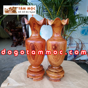 Lục bình gỗ cẩm vân đẹp
