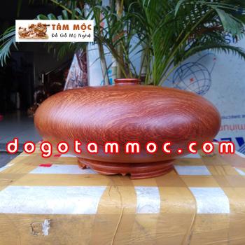 Bình gỗ hút tài lộc bằng gỗ hương Việt