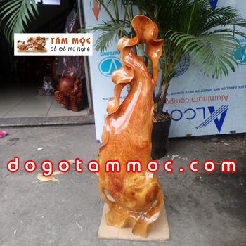 Bình phay nghệ thuật gỗ hương Việt