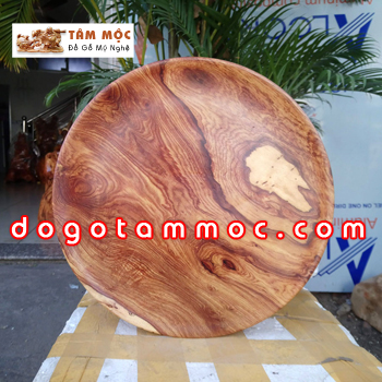 Dĩa bồng gỗ cẩm chỉ vân đẹp