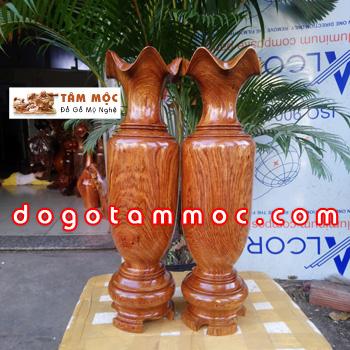 Lộc bình gỗ hương Việt vân đẹp