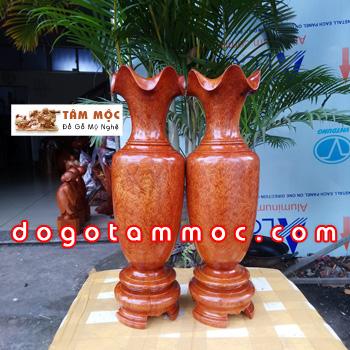 Lục bình gỗ hương Việt vân giọt nước đẹp lạ