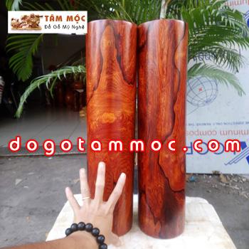 Cặp trụ gỗ cẩm chỉ vân đẹp