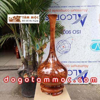 Bình gỗ hương Việt vân chun - có điểm chút nu đẹp lạ