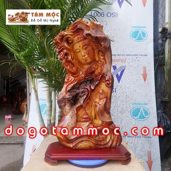 Tượng diện Phật - bái Phật bằng gỗ hương