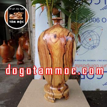 Bình hút tài lộc bằng gỗ cẩm chỉ