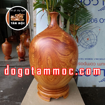 Chum hút tài lộc bằng gỗ cẩm chỉ đẹp độc lạ