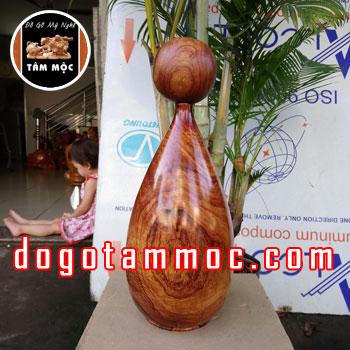 Lọ hoa bằng gỗ cẩm chỉ Việt đẹp lạ