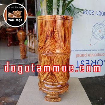 Ống cắm nhang gỗ cẩm chỉ Việt