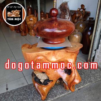 Chum gỗ phong thủy tài lộc bằng gỗ hương Việt