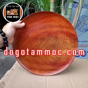 Dĩa bồng bằng gỗ hương Việt