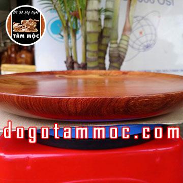 Dĩa đựng hoa quả bằng gỗ hương Việt đẹp