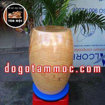 Ghế đôn gốc cây kê tượng bằng gỗ pơ mu