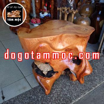 Ghế đôn gốc cây gỗ gõ đỏ Việt