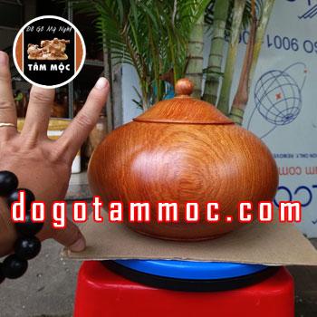 Hộp đựng bánh kẹo bằng gỗ hương Việt