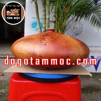 Bình gỗ phong thủy tài lộc gỗ hương Việt