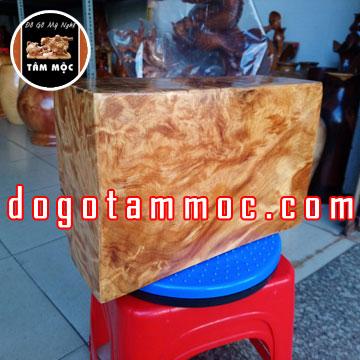 Đế gỗ kê tượng bằng gỗ pơ mu Vân Chun Chớp