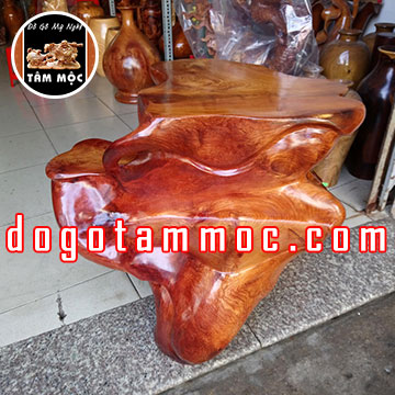 Bàn gốc cây kê tượng gỗ hương Việt Đẹp Độc Lạ