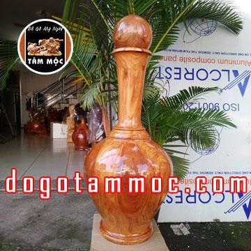 Bình phú quý tài lộc bằng gỗ gõ đỏ Việt (hay còn gọi là gỗ cà te) Đẹp Độc Lạ