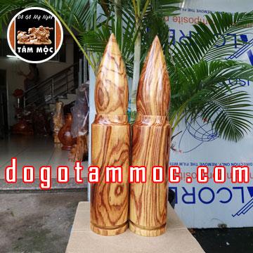 Đầu đạn bằng gỗ cẩm phèo đẹp lạ