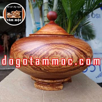 Thố gỗ cẩm chỉ Việt đẹp độc lạ